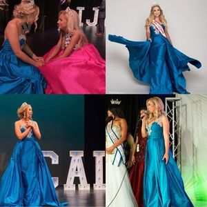 Teal Jovani gown